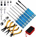 10 In 1 Rc Tools Kits Box Set Screwdriver Pliers Hex Repair For Helicopter Car