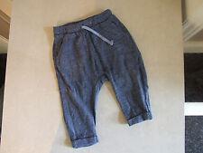 ZARA Bebé 9-12 meses ENCANTADOR AZUL-GRIS Elástica Pantalones - Diseño Atractivo