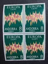 MOMEN: ANDORRA CEPT # 1972 MINT OG NH $600 BLOCK