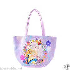 Disney Store Japan Alice in Wonderland Lavender Bag Curious Garden Flowers
