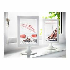 IKEA TOLSBY Table Picture White 4x6'' Plastic Double Sided standing Frame Modern