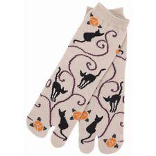 Chaussettes japonaises TABI femme,enfant 34/39 beige avec des chats
