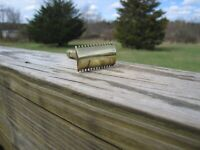 Gillette Single Ring Open Comb DE Safety Razor Gold Tone (No Serial# Date Code)