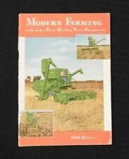 """1956 John Deere """" Moderno Fattoria """" Full-Line Catalogo 40 50 60 70 80 Buone"""