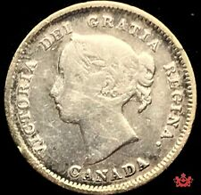 1889H Canada 5 Cents - VG/F - Cleaned Lot#855