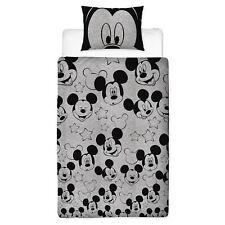 Disney Mickey Mouse Silhoutte Single Duvet Cover Set Boys Girls - 2 in 1 Design