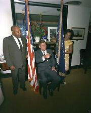 President John F. Kennedy sits in chair at his birthday party New 8x10 Photo