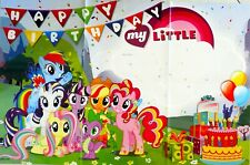 MY LITTLE PONY HAPPY BIRTHDAY PARTY POSTER BANNER PARTY SUPPLIES DECORATION