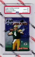 "Brett Favre 1997 Topps Chrome Season's Best #4 ""Air Command"" PSA GEM Mint 10 HOF"