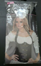 NEW STEAMPUNK UNDERBUST CORSET Costume ADULT Large