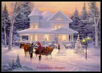 Chart Needlework Crafts DIY - Counted Cross Stitch Patterns - Country Christmas
