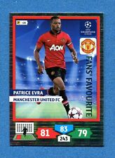 CHAMPIONS 2013-2014 -Adrenalyn Panini- Card FANS FAVOURITE - EVRA - MANCHESTER