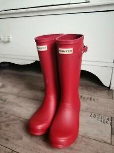 Hunter Girls Wellies Size UK 2