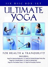 Ultimate Yoga for Health &Tranquillity 6 DVD set, Beginners, Healthy Back + More