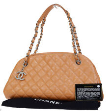 Authentic CHANEL CC Quilted Chain Shoulder Bag Patent Leather Orange 50EQ001