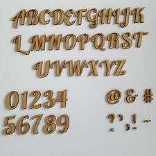 Holzern Hummer Buchstaben,Alphabet & Nummern Zwischen Größen 2-10cm Handarbeiten