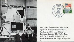 APOLLO 9 Schweikart McDivitt Scott near Landing craft Port Washington 1969 cover