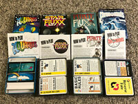 LOT of 4: Pirate Fluxx, Star Fluxx, Chrononauts v1.5, Aquarius - Looney Labs