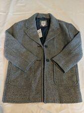 Gaps Kids Gray tweed wool blend coat, childs 6-7