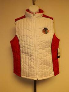 New Chicago Blackhawks Womens Size M Medium Vest Jacket $40