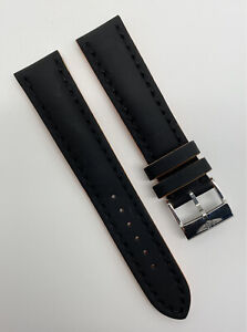 Authentic Rare New Breitling 20mm x 18mm Black Rubber Watch Strap Band 244X OEM