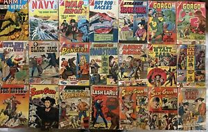 CDC COMIC BOOK LOT - 29 COMICS - 1950'S AND 1960'S - WESTERNS COMBAT SCIFI