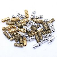 50pcs 8x3mm Column Tube Spacer Beads Antique Silver/Gold/Bronze for Jewelry