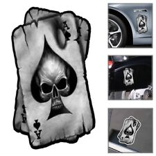 Ace of Spades Playing Cards Skull Car Truck Window Laptop Vinyl Decal Sticker