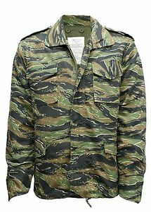 M65 Jacket Army Military Combat US Field Winter Quilted Liner Vintage Tiger Camo