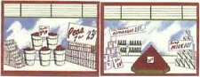 SUPERMARKET White Background for Plasticville S Gauge Scale Buildings PL111