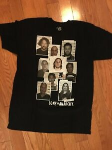 Sons of Anarchy Mug Shots Men's T-Shirt-NEW-Available in L & XL