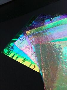 Angelina Film Dichroic Ready-To-Use Sheets x 10 Card Making Crafts Collage