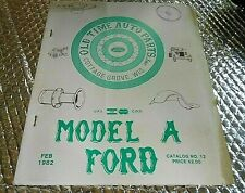 1982 Model A Ford Parts Catalog By Old Time Auto Parts Cottage Grove Wis.