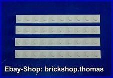Lego 4 x Platte Platten weiß (1 x 10) - 4477 - White Plate - NEU / NEW
