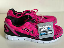 NEW! FILA COOLMAX MEMORY FOAM PINK BLACK RUNNING TRAINING SHOES US 7.5 38.5 SALE