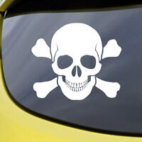 Skull Sticker Decal Vinyl Window Bumper Pirate Bones Funny Car Bike Van Punisher