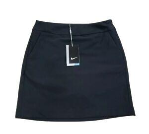 NEW - NIKE GOLF Dri Fit Solid Black Tournament Skort Size 0 Women's 742875-010