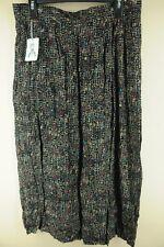 Vintage Norton McNaughton Women's Black & Taupe 80's Rayon Skirt L Large