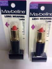 LOT OF 2 - Maybelline Long Wearing Lipcolor Lipstick ( FLIPPED OVER ORANGE ) NEW