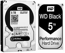 Western Digital 5TB BLACK Performance Hard Drive WD 7200 RPM SATA WD5001FZWX 5TB