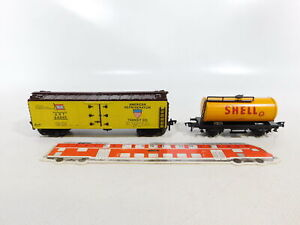 BI308-0,5# Fleischmann H0/DC Blech-Kesselwagen Shell+ US/USA-Wagen 28545 A.R.T.
