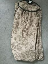 M&S - LARGE MINK SCARF WITH GOLD METALLIC THREAD IN FLORAL PATTERN - BNWT