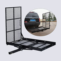 Wheel Chair Trailer Hitch Carrier Scooter Mobility Cargo Carrier w/Loading Ramp