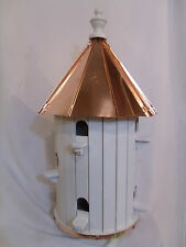 10 Hole Bird House High roof Copper top  XLarge 31 inches TALL Amish Made in USA