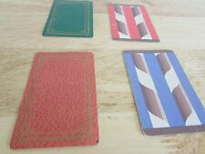 Lot of 4 Single Swap Stylized Playing Card Cards Blue Green Orange