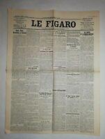 N1047 La Une Du Journal Le Figaro 1er Août 1923 Henri Fabre