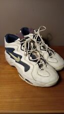 5566242dbb082b Vintage OG 1990 s Nike Air Flight Basketball Sneakers-White Navy Blue-Size  13