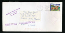 BURKINO FASO to FIJI RETURNED LETTER 1999 LIONS FRANKING