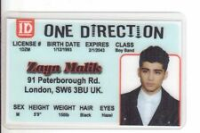 ONE DIRECTION Zayn Malik Zahn Boy Band card London Enland UK Drivers License