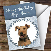 WELSH TERRIER CHARMING DOG GREETINGS NOTE CARD DOG ON CHAIR RIPS BOOK